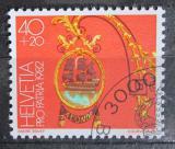Poštovní známka Švýcarsko 1982 Hotelový štít Mi# 1224