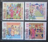 Poštovní známky Švýcarsko 1989 Ilustrace z bible Mi# 1393-96 Kat 5€