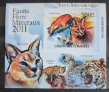 Poštovní známka Komory 2011 Kočkovité šelmy neperf. Mi# 3059 B Block