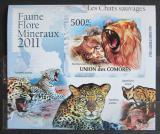 Poštovní známka Komory 2011 Kočkovité šelmy neperf. Mi# 3060 B Block