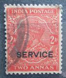 Poštovní známka Indie 1935 Král Jiří V., služební Mi# 91