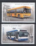 Poštovní známky Moldavsko 2013 Městská doprava Mi# 850-51