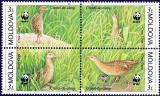 Poštovní známky Moldavsko 2001 Chřastál, WWF 290 Mi# 379-82