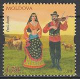 Poštovní známka Moldavsko 2018 Moldavský kroj Mi# 1045