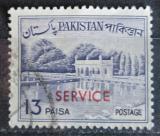 Poštovní známka Pákistán 1961 Zahrady Shalimar přetisk, úřední Mi# 89