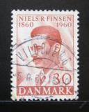 Poštovní známka Dánsko 1960 Dr. Niels R. Finsen, lékař Mi# 384