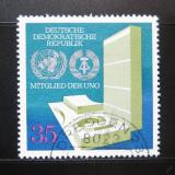Poštovní známka DDR 1973 Vstup do OSN Mi# 1883