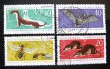 Poštovní známky DDR 1962 Ohrožená fauna Mi# 869-72 Kat 12€