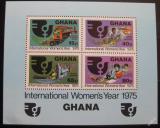 Poštovní známky Ghana 1975 Mezinárodní rok žen Mi# Block 61
