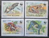 Poštovní známky Bulharsko 1989 Netopýři, WWF Mi# 3741-44