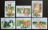 Poštovní známky Kambodža 1999 Psi Mi# 1906-11