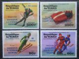 Poštovní známky Čad 1976 ZOH Innsbruck, olympijští vítězové Mi# 731-34