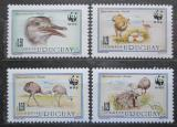 Poštovní známky Uruguay 1993 Nandu pampový, WWF 156 Mi# 2021-24