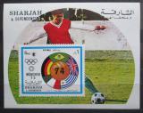 Poštovní známka Šardžá 1972 LOH Mnichov, fotbal Mi# Block 122 Kat 8€