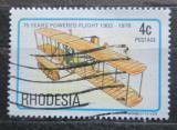Poštovní známka Rhodésie, Zimbabwe 1978 Dvojplošník bratří Wrightů Mi# 221