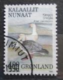 Poštovní známka Grónsko 1990 Husa sněžní Mi# 199