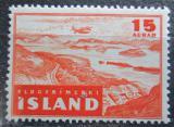 Poštovní známka Island 1947 Letadlo nad krajinou Mi# 241