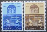 Poštovní známky Island 1968 Národní knihovna, 150. výročí Mi# 422-23