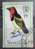 Poštovní známka Svazijsko 1976 Vousák červenolící Mi# 242