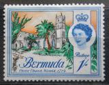 Poštovní známka Bermudy 1962 Kostel ve Warwicku Mi# 171 X
