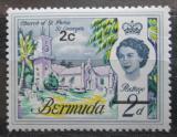 Poštovní známka Bermudy 1970 Kostel svatého Petra v St. George přetisk Mi# 228 X