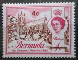 Poštovní známka Bermudy 1970 Katedrála v Hamiltonu přetisk Mi# 230 X