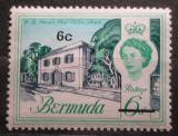 Poštovní známka Bermudy 1970 Stará pošta v Hamiltonu přetisk Mi# 232 X