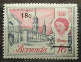 Poštovní známka Bermudy 1970 Architektura přetisk Mi# 237 Y