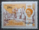 Poštovní známka Bermudy 1970 St. George přetisk Mi# 238 Y