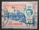 Poštovní známka Bermudy 1970 Hlavní pošta v Hamiltonu přetisk Mi# 231 Y