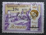 Poštovní známka Bermudy 1970 Architektura přetisk Mi# 234 Y