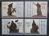 Poštovní známky Malta 1967 Melchior Cafa, sochař Mi# 356-59