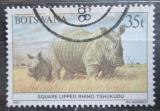 Poštovní známka Botswana 1987 Nosorožec tuponosý Mi# 416
