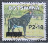 Poštovní známka Botswana 2006 Antilopa vraná přetisk Mi# 826