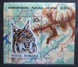 Poštovní známka Rumunsko 1985 Rys ostrovid Mi# Block 218
