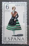 Poštovní známka Španělsko 1967 Lidový kroj Albacete Mi# 1663