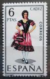 Poštovní známka Španělsko 1967 Lidový kroj Cádiz Mi# 1723