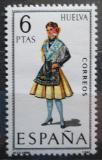 Poštovní známka Španělsko 1968 Lidový kroj Huelva Mi# 1787
