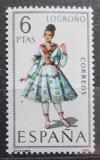 Poštovní známka Španělsko 1969 Lidový kroj Logroňo Mi# 1811