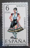 Poštovní známka Španělsko 1969 Lidový kroj Malaga Mi# 1829