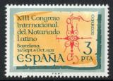 Poštovní známka Španělsko 1975 Mezinárodní kongres notářů Mi# 2176
