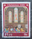 Poštovní známka Fidži 1989 Vánoce Mi# 610
