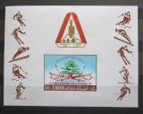 Poštovní známka Libanon 1968 Lyžování Mi# Block 35