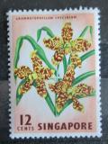 Poštovní známka Singapur 1963 Orchidej Mi# 60