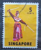 Poštovní známka Singapur 1968 Tanečnice, Státní opera Peking Mi# 86