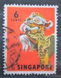 Poštovní známka Singapur 1968 Lidový tanec Mi# 87