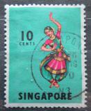 Poštovní známka Singapur 1968 Indický tanec Mi# 88