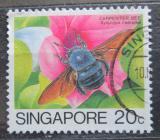 Poštovní známka Singapur 1985 Xylocopa caerulea Mi# 466
