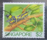 Poštovní známka Singapur 1985 Traulia azureipennis Mi# 472
