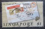 Poštovní známka Singapur 1990 První známky, 150. výročí Mi# 596